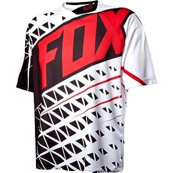 FOX RACING MENS BLACK WHITE /& RED  T SHIRT