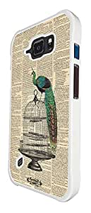 594 - Vintage Shabby Chic Peacock Newspaper Design For Samsung Galaxy S6 Active G890 Fashion Trend CASE Back COVER Plastic&Thin Metal
