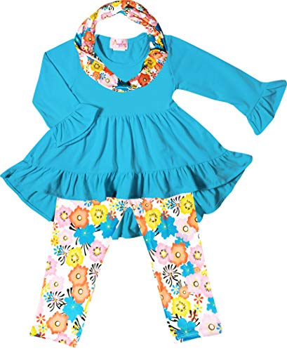 Boutique Little Girls Spring Colors Easter Floral Top
