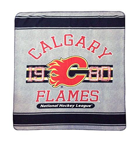 Calgary Flames Blanket (New NHL Ice Hockey Calgary Flames Rolled Fleece Throw Blanket 50