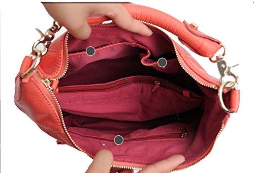 Freeze Classico alta qualità vera pelle Cross Body Bag Borsa a tracolla porpora