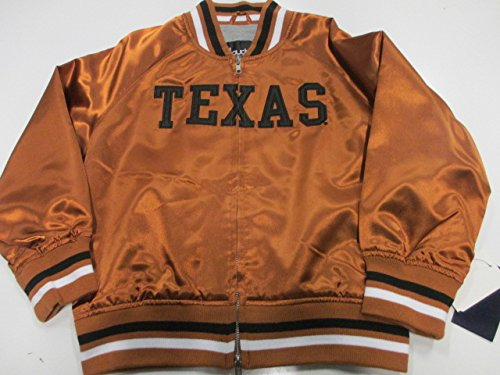 58 Sports Texas Longhorns Womens Medium Touch by Alyssa Milano Full Zip Embroidered Satin Jacket AUTX 14 M A1 1205
