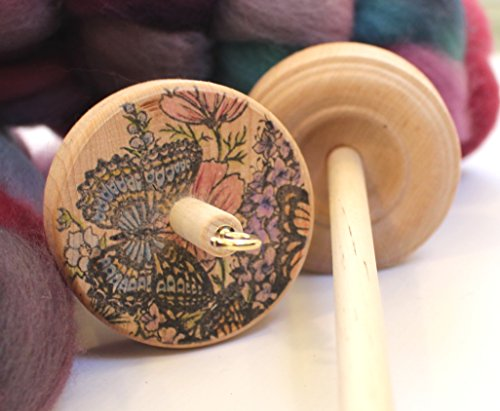 Used, Butterfly Drop Spindle Handmade Spinning Spindle for sale  Delivered anywhere in USA