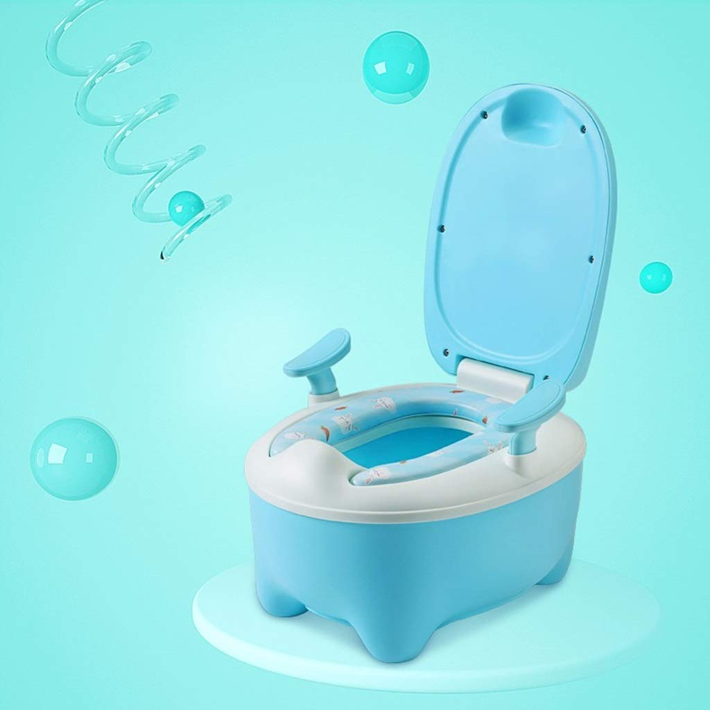 XWJC Children's Toilet Male and Female Baby Child Baby Potty Urinal Drawer Type Large Toilet PU Section + Toilet Brush + Cotton Pad