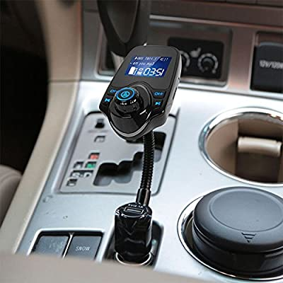 Amyove Wireless in-Car Bluetooth,FM Transmitter MP3 Radio Adapter USB Charger Car Kit