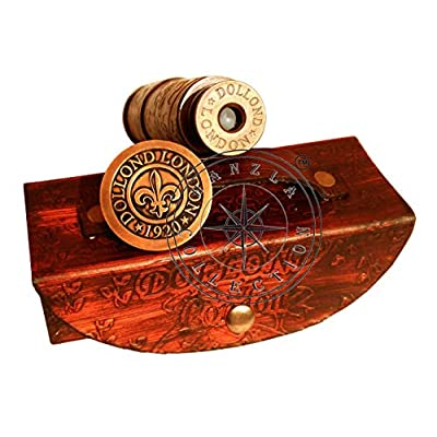 Hanzlacollection Nautical Marine Spyglass Handheld Brass Telescope with Leather Case~Vintage Dollond London Scope: Camera & Photo