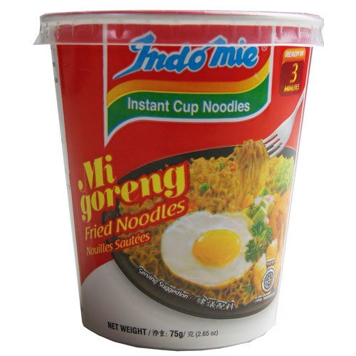 Indomie CUP NOODLES Fried Noodles 100%HALAL Mi Goreng 75g (2.6oz), Pack of - Outlet Mi Mall