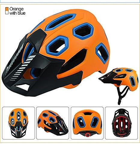 Casco de Ciclismo Integrado Equipo para Montar en Bicicleta Casco de Bicicleta de montaña Casco para Hombres y Mujeres Casco Ligero-Orange-L(58-62cm): Amazon.es: Deportes y aire libre