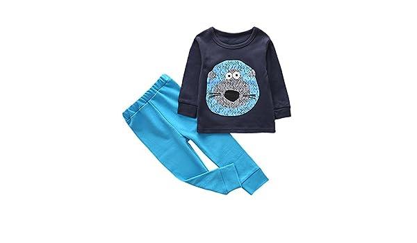 feiXIANG Ropa de bebé niño niña bebé niña niños Dibujos Animados Estampado Animal Camisa + Pantalones Traje de Dos Piezas Servicio a Domicilio 1-6 años: ...