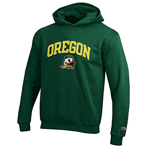 Elite Fan Shop Oregon Ducks Kids Hooded Sweatshirt Arch Green - L