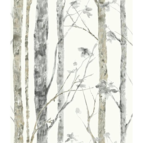 RoomMates Birch Trees Peel and Stick Wallpaper ()