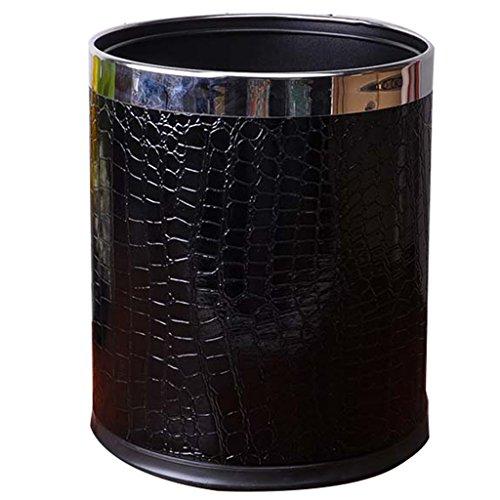 TY BEI Black/brown/coverless stainless steel ring, crocodile