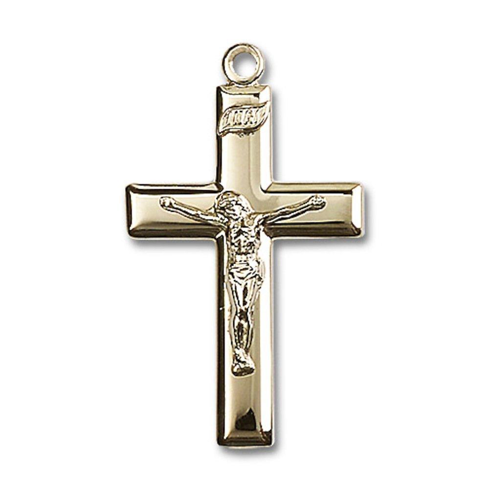 14 ktゴールド十字架Medal B008JL21UO