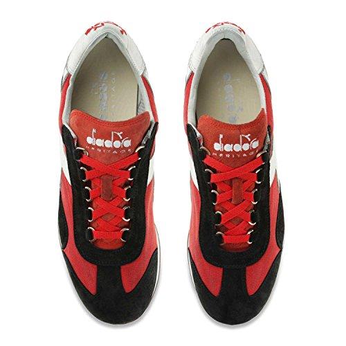Rosso Ferrari Heritage Adulto nero Diadora Stone Italia Scarpe Unisex Low Top C0809 Wash Equipe 12 TwwqHPB
