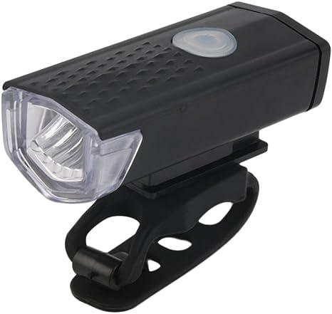 SODIAL Luz Frontal de Bicicleta Recargable USB Faro de Ciclismo ...