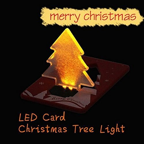 Folding Led Pocket Christmas Tree Card Light Lamp in US - 1