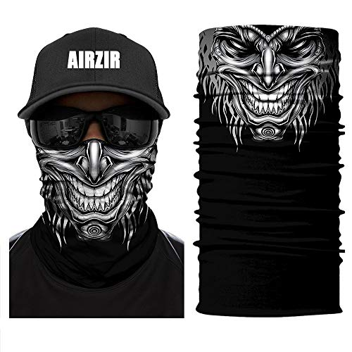Airzir Outdoor Face Mask, Breathable Seamless Tube Dust-proof Windproof UV Protection Motorcycle Bicycle ATV Face Mask for Motorcycling Cycling Hiking Camping Climbing Fishing -