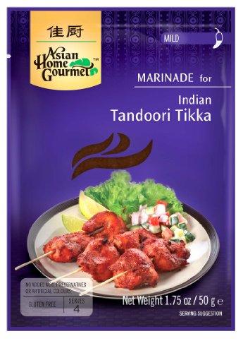 Asian Home Gourmet Indian Tandoori Tikka, 1.75-Ounce Packages (Pack of 12) -