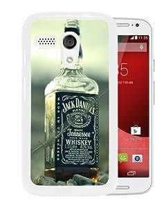 Fashionable And Unique Designed Case For Motorola Moto G Phone Case With jack daniels whiskey alcohol bottles 54792 White