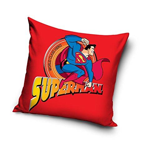 Superman 100% algodón decorativo funda para cojín funda de ...