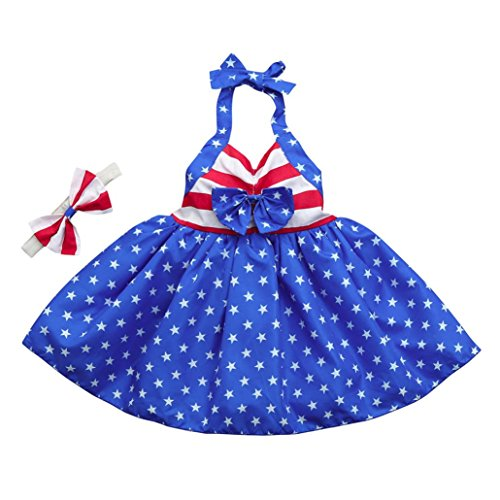 Pollyhb Baby Girls Dress, Infant Girls Independence Day