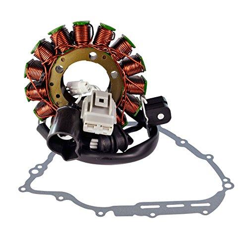 Stator + Crankcase Cover Gasket For Yamaha YXR700 Rhino / YXM700 Viking / YXC700 Viking VI 2008-2018 OEM Repl.# 1XD-81410-00-00 5B4-81410-00-00 3B4-15451-00-00 (2008 Yamaha Rhino 700 Stator)
