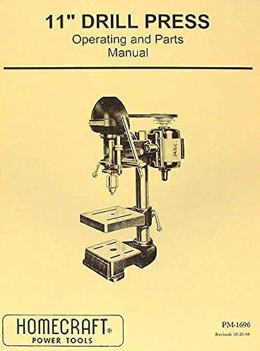delta homecraft 11 drill press opertors parts manual misc rh amazon com delta drill press manual for dp 350 delta 14-040 drill press manual