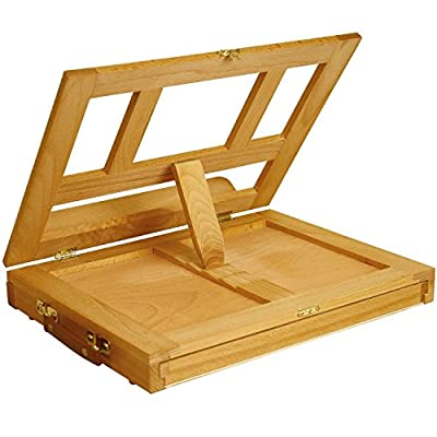 Bamboo Artist Easel for Painting and Drawing - Portable Tabletop Easel with Storage Drawer - Art Easel for Kids and Adults
