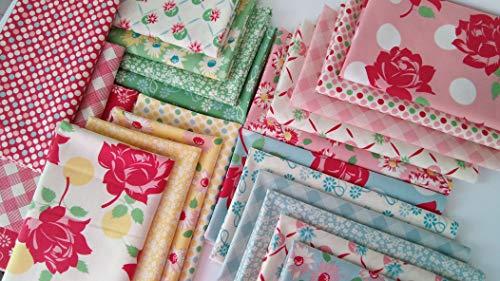 Cheeky Urban Chiks Moda Fabrics Reproduction Cotton Quilting Fabric ~ 22 Fat Quarters Bundle ~ 5.5 Yards ()