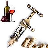 Zinc Alloy Red Wine Opener Classic Antique Metal Corkscrew Wine Opener
