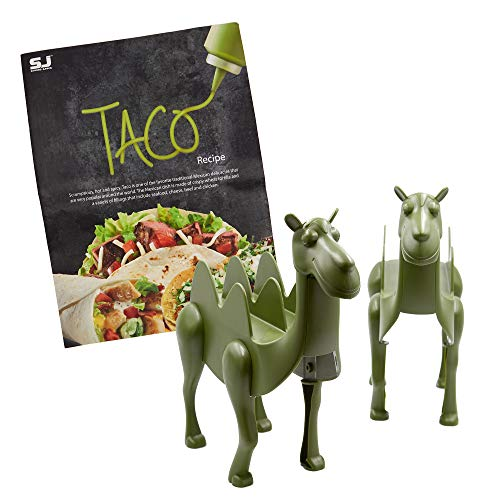 Camel Taco Holders - (Pack of 2 Camel Taco Stands) - For Taco Tuesdays and Kids Parties - Perfect Gift for Kids and Adult Taco Lovers - With Taco Recipe Booklet