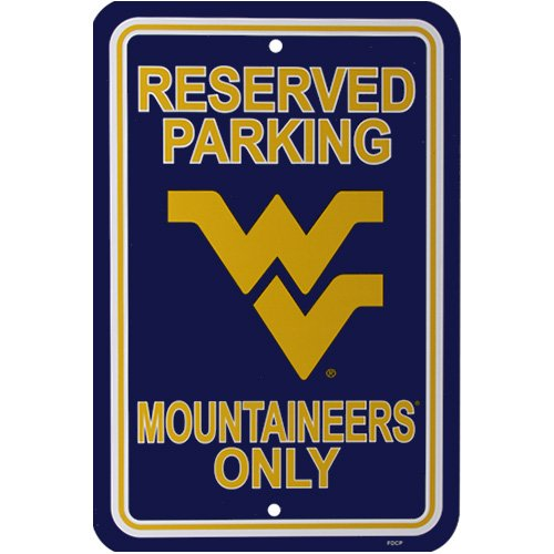 - Fremont Die NCAA West Virginia Mountaineers 12-by-18 inch Plastic Parking Sign