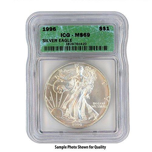 1996 American Silver Eagle $1 MS69 ICG