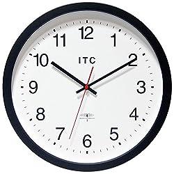 INFINITY/ITC 90/RC14-1 Atomic Clock Radio Controlled Clock, 14 Diameter, Black