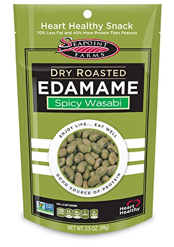- Seapoint Farms Wasabi Dry Roasted Edamame, Healthy Gluten-Free Snacks, 12-Pack