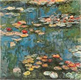 Water Lilies by Claude Monet | Woven Tapestry Wall Art Hanging |Classic Impressionist Masterpiece | 100% Cotton USA Size 46x45