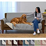 Home Fashion Designs Deluxe Reversible Quilted Furniture Protector and PET Protector. Two Fresh Looks in One. Perfect for Families with Pets and Kids Brand. (Sofa/Couch, Storm Grey)