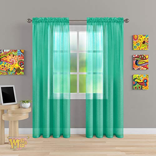 MEMIAS Pocket Semi-Sheer Curtain - Elegant Linen Luxury for Kidsroom, Livingroom, Bedroom and Outdoor - Set of Two: 54
