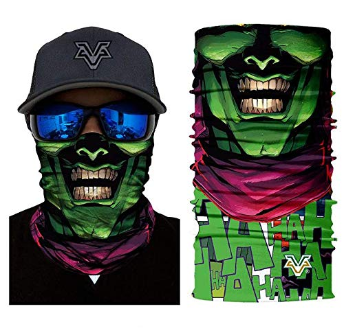 3D Green Goblin Face Tube Neck Face Scarf Lower Half Face Mask Motorcycle Bicycle Shield Sun Air Soft Outdoor Biker Riding Masks -