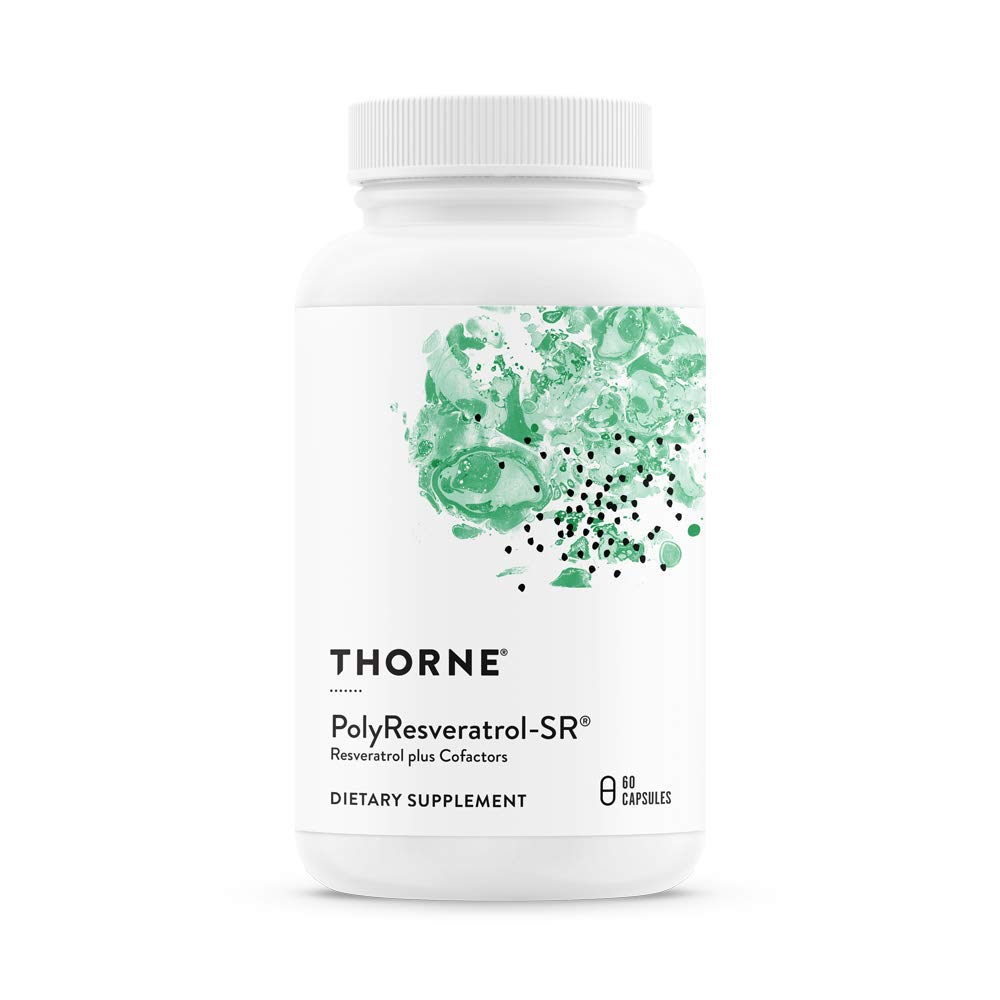 Thorne Research - PolyResveratrol-SR - Trans-Resveratrol Supplement for Healthy Aging - 60 Capsules