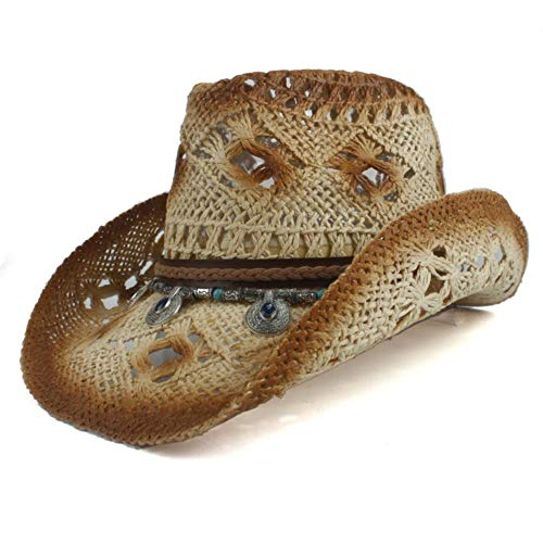 Bohemia Tassel Women Straw Hollow Western Cowboy Hat Lady Sombrero Hombre Beach Cowgirl Jazz Sun Hat