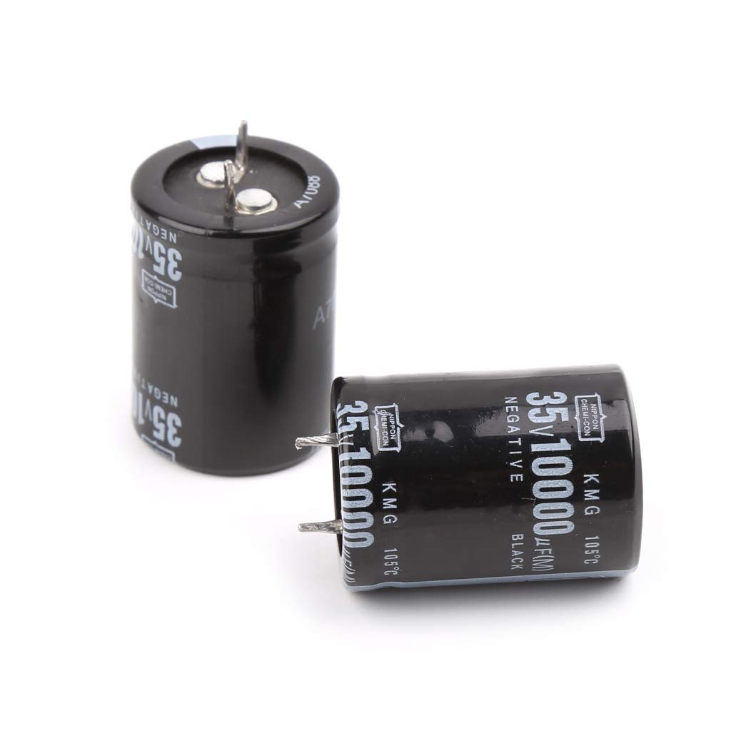 BIlinli 2pcs 10000uF 35V Radial Aluminium Electrolytic Capacitors 25x40mm Capacitors