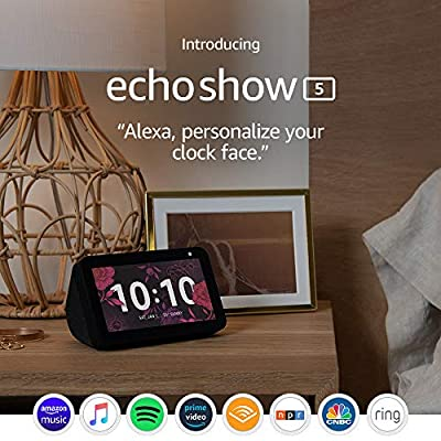 Echo Show 5 — Smart display with Alexa – stay connected with video calling – Charcoal