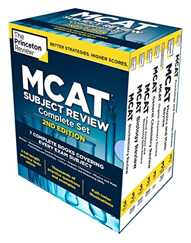 Princeton Review MCAT Subject Review Complete Box Set, 2nd Edition: 7 Complete Books + Access to 3 Full-Length Practice Tests (Graduate School Test Preparation)