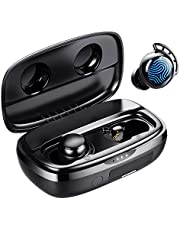 Wireless Earbuds, Tribit 100H Playtime Bluetooth 5.0 IPX8 Waterproof Touch Control Ture Wireless Bluetooth Earbuds with Mic Earphone in-Ear Deep Bass Built-in Mic Bluetooth Headphones, Flybuds 3