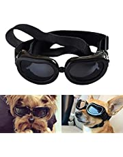 Namsan Small Dog Goggles Puppy Sunglasses UV Resistant Waterproof Snowproof Glasses for Doggy, Cat - Black