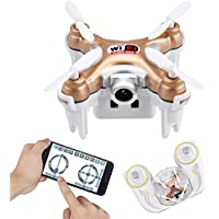 Kingtoys Wifi FPV Mini Drone With HD Camera, Cheerson CX-10WD-TX Remote Control Nano Quadcopter, High Hold Mode ,High/Low Speed, RTF Mode Switch Smallest RC Drone