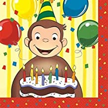 Curious George Napkins (16-pack) - Party Supplies by Unique Industries