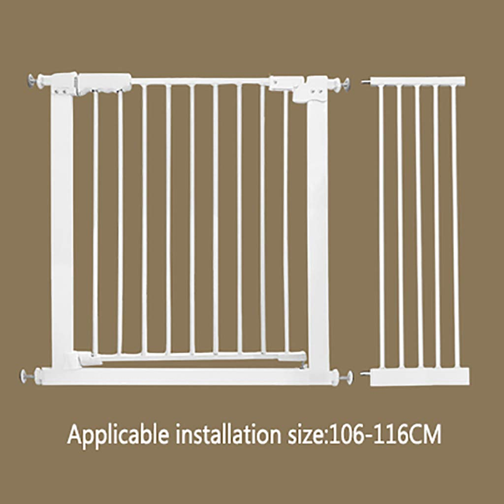 W106-116CM H 78CM W106-116CM H 78CM Pet gate Dog Fence Indoor Anti-Dog Isolation Railing Safety Fence Cat and Dog Fence Isolation Door Pet Fence pet Bed Detachable (color   W106-116CM, Size   H 78CM)