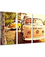 Cuadros Camara Poster Fotográfico Furgoneta volkswagen vintage hippie Tamaño total: 97 x 62 cm XXL, Multicolor
